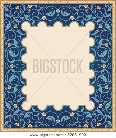 High detailed islamic art frame