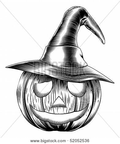 Vintage Friendly Halloween Pumpkin
