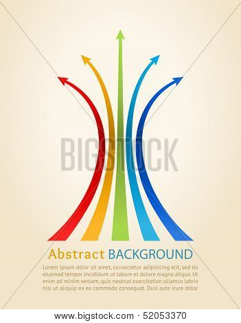 Colored Arrows, Vector. Design Template.