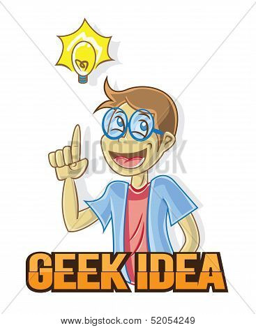 Geek Idea Character Design Mascot