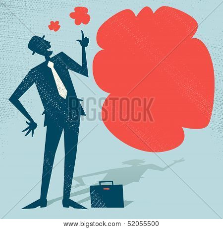 Abstract Businessman has an Idea