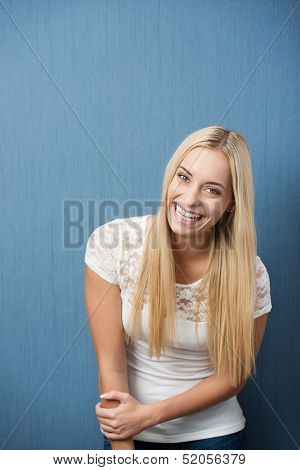 Vivacious Playful Young Woman Student