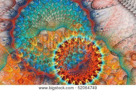 Fractal wave shape background