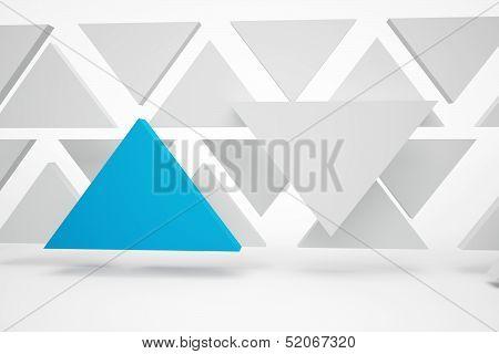 Abstrakt Blue Triangles