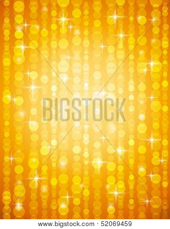 Golden Brightnes Illustration Suitable For Christmas Or Disco Backround, Vector