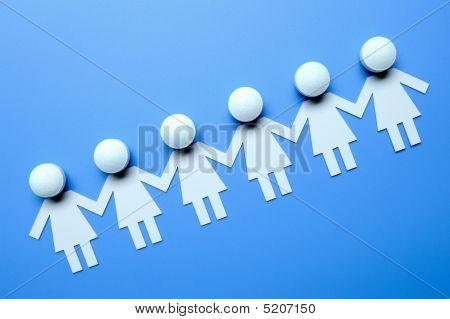 Cadena de papel personas