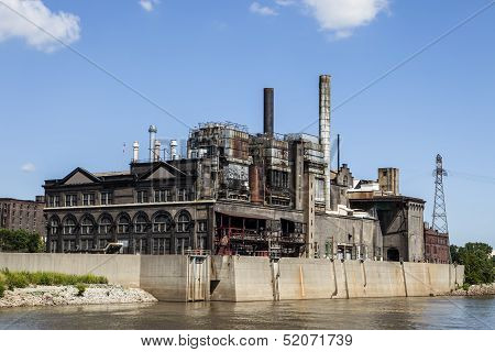 A power plant in the Riverfront North