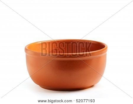Brown Ceramic Plate, Soup Tureen.