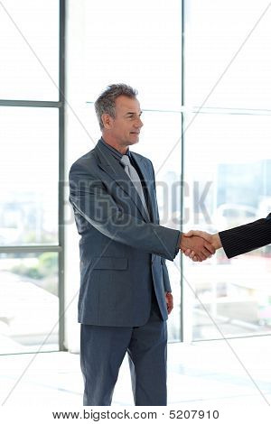 Senior Businessman Shaking Hands