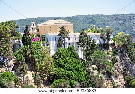 monastery on the island of Corfu, Greece