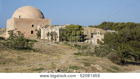 Mosque Ibrahim Khan. Fortezz's Fortress. Island Of Cret