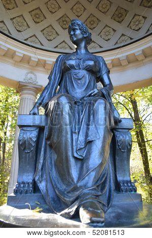 Statue In Rossi Pavilion, Pavlovsk Park.