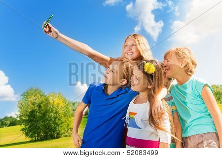 Kids Taking A Photo