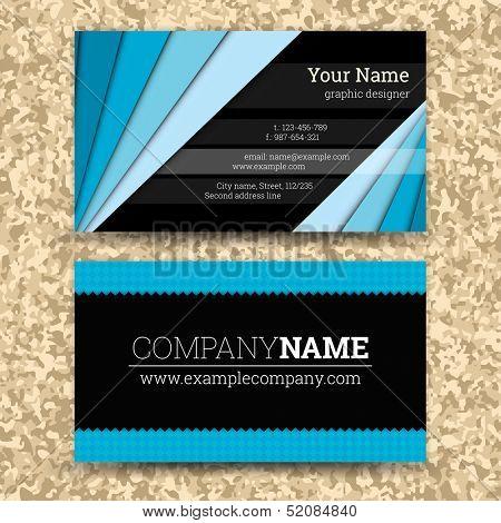 Premium business Card Set. Vector illustration. EPS10