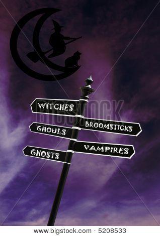 Halloween Signs Vertical