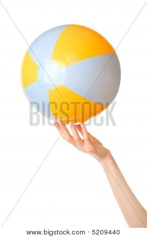 Woman Hand With Beachfront Ball