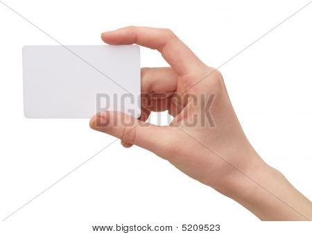 Hand With The Credit Card