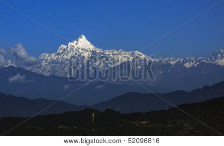 Mountain Range In The Morning