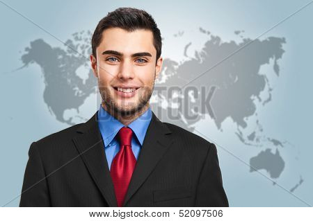 Handsome news reader portrait