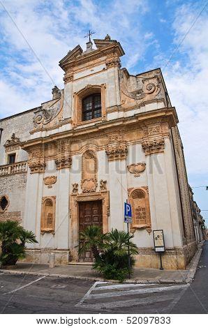 Church of St. Giovanni. San Vito dei Normanni. Puglia. Italy.