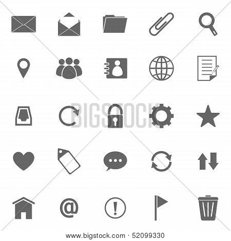 Mail Icons On White Background