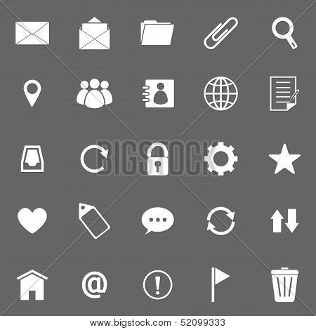 Mail Icons On Gray Background