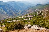 stock photo of armenia  - panorama of village Halidzor in caucasus mountains in Armenia - JPG