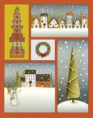 picture of cabana  - Vintage Christmas Poster  - JPG