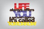 pic of sarcastic  - Life always offers you a second chance - JPG