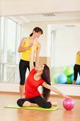 pic of zumba  - Group training in a gym of a fitness center - JPG