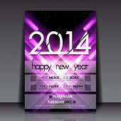 image of meteor  - 2014 New Year Vector Flyer Template - JPG