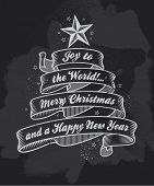 foto of chalkboard  - Chalkboard Christmas Greeting Card - JPG