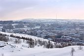 picture of murmansk  - Winter view of Murmansk city - JPG