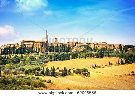 Tuscany, Pienza Medieval Village. Siena, Val D Orcia, Italy