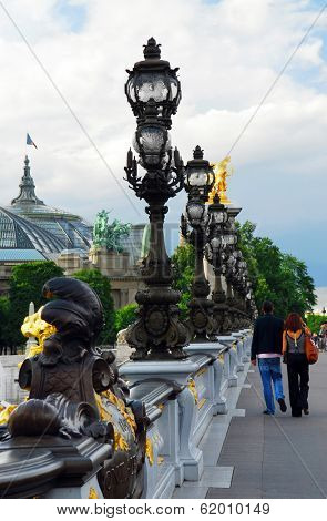 Alexander the Third bridge in Paris, France.