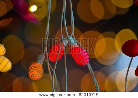 Decorative Lighs In Bangkok With Bokeh Background