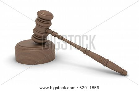 Law Wooden Gavel