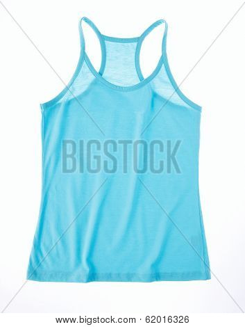 women blue undershirt