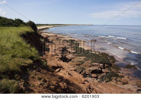 Rocky shore in PEI