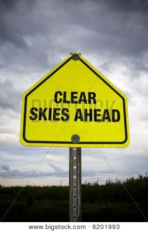 Clear skies ahead sign