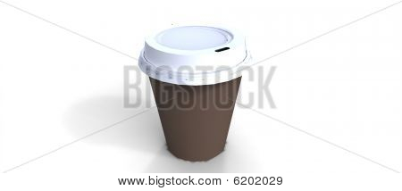 coffee to go cup isolated on white