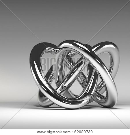 3D Chrome Abstract Knot