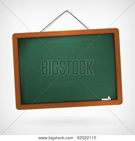 Green Empty Vector Chalkboard