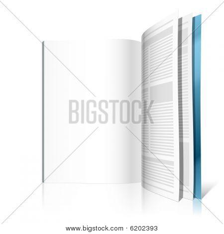 Blank magazine page. Vector illustration.