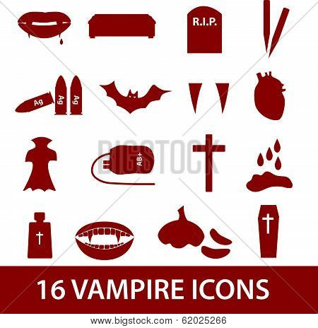 vampire icon set eps10
