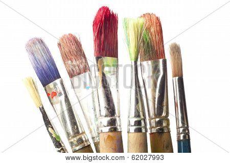 Paintbrushes Against White Background