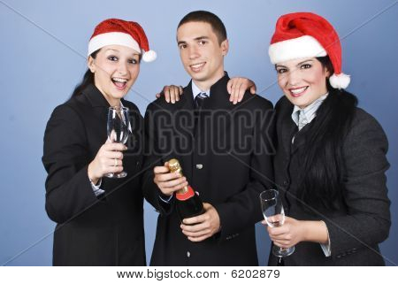 Business People Celebrate Christmas