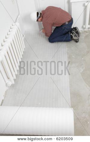 Instalação de piso laminado
