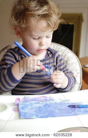 Child, Toddler Drawing Art