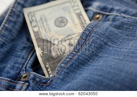 Cash In Front Pocket